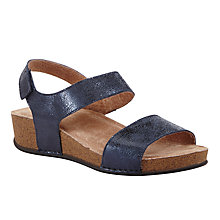 Buy John Lewis Two Strap Sandals, Navy Online at johnlewis.com