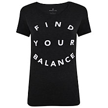 Buy Manuka Balance Yoga T-Shirt, Black Online at johnlewis.com