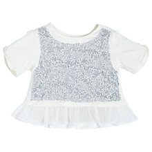 Buy Angel & Rocket Girls' Annie Sequin Embellished Blouse, White/Silver Online at johnlewis.com