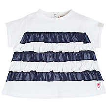 Buy Angel & Rocket Baby Ivy Frill T-Shirt, White/Navy Online at johnlewis.com