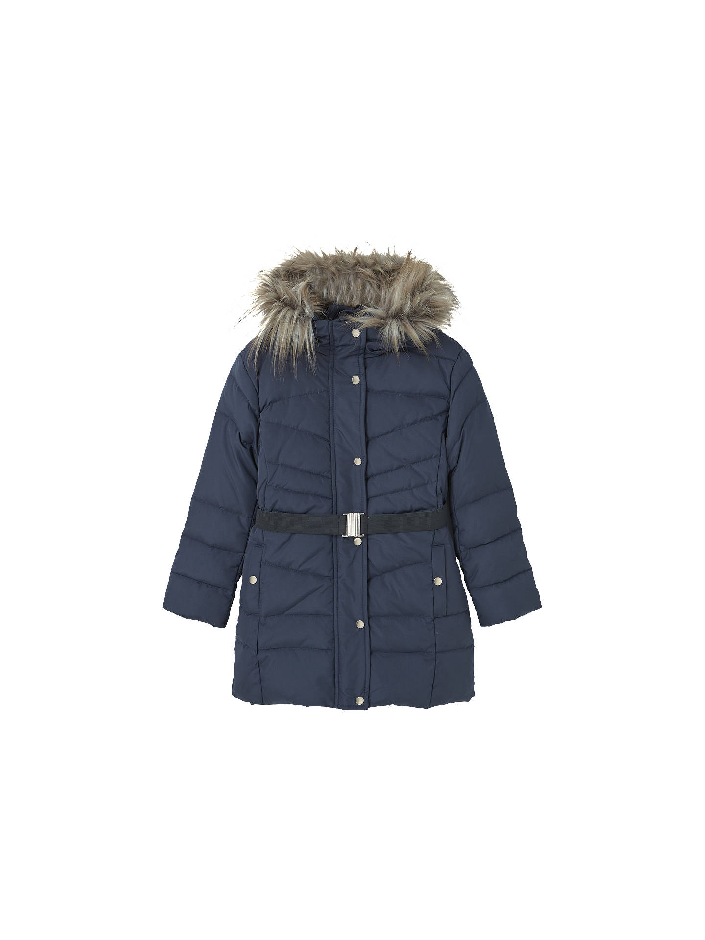 f8530d422c4 Buy Mango Kids Girls' Water Resistant Feather and Down Coat, Navy, 3 years  ...