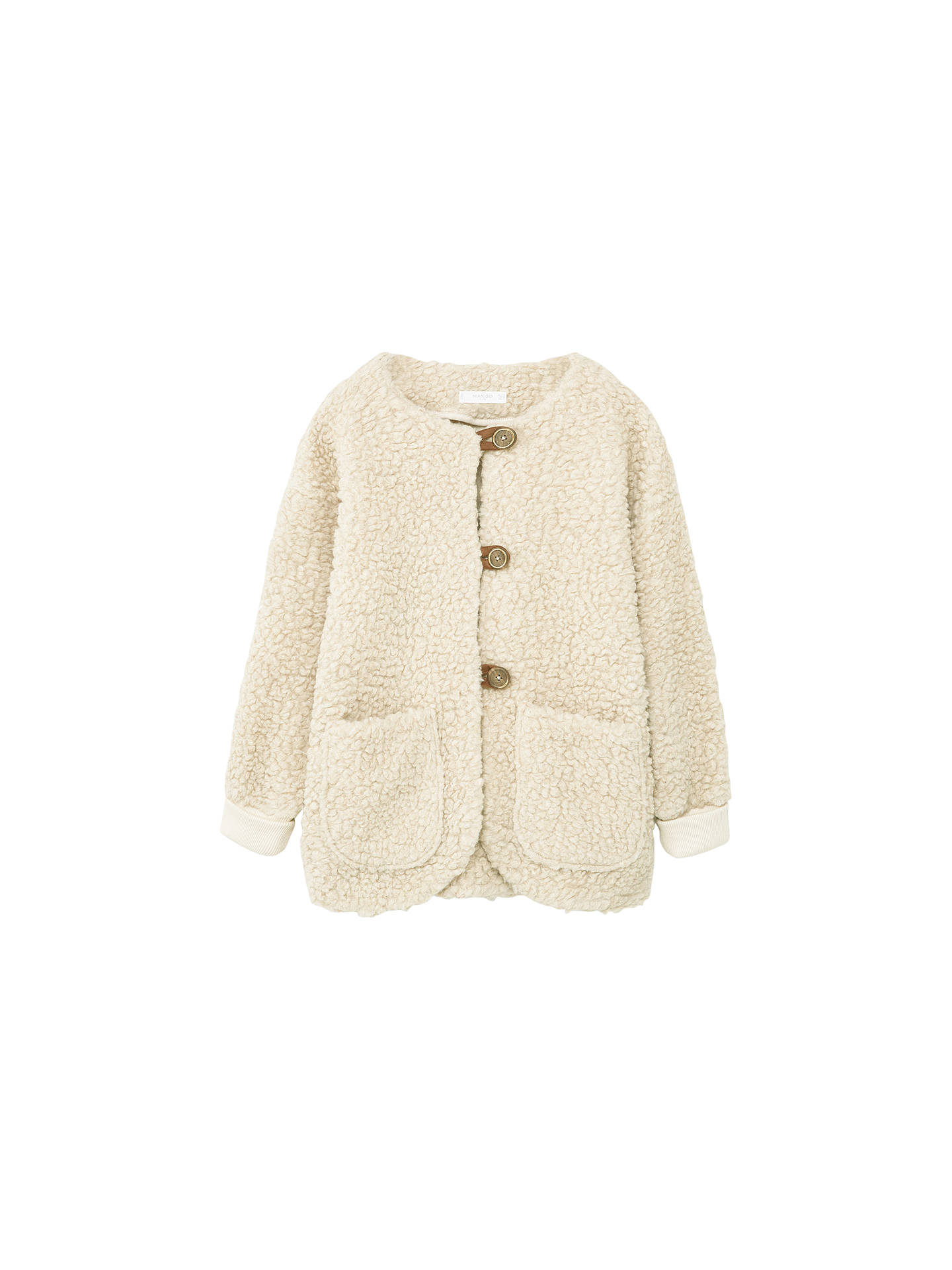 eff9d96a1 Mango Kids Girls  Faux Sheepskin Jacket