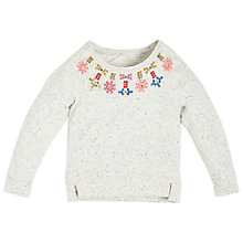 Buy Angel & Rocket Girls' Embellished Sweatshirt, Neutral Online at johnlewis.com