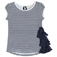 Buy Angel & Rocket Girls' Sienna Striped T-Shirt, Navy/White Online at johnlewis.com