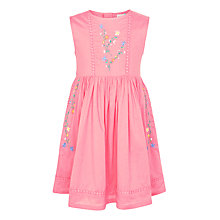 Buy John Lewis Girls' Traditional Embroidered Dress, Bubblegum Online at johnlewis.com
