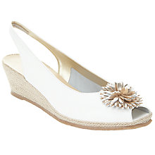 Buy John Lewis Rose 2 Flower Wedge Heeled Sandals Online at johnlewis.com