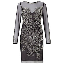 Buy Miss Selfridge Kim Bodycon Dress, Silver/Grey Online at johnlewis.com