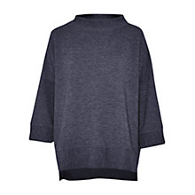Buy French Connection Sudan Ribbed Marl Jersey Top, Utility Blue Online at johnlewis.com
