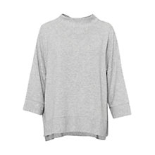 Buy French Connection Sudan Ribbed Marl Jersey Top, Grey Online at johnlewis.com