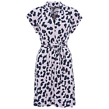 Buy French Connection Meadow Jersey Dress, Leopard Print/Multi Online at johnlewis.com