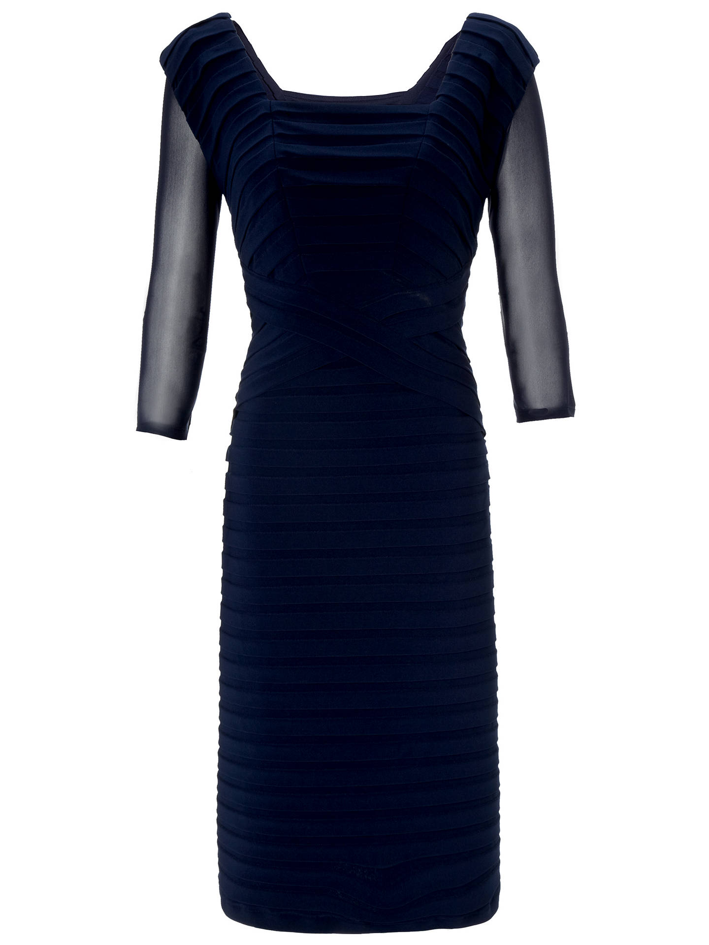 BuyGina Bacconi Mesh Sleeve Under Top, Navy, XS Online at johnlewis.com