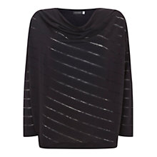 Buy Mint Velvet Cocoon Stripe Burnout T-Shirt Online at johnlewis.com