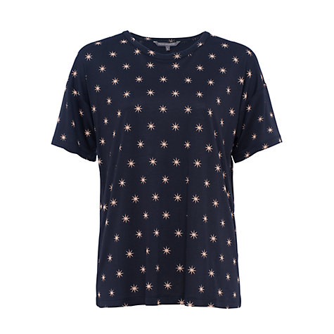 Buy French Connection Meadow Jersey T-Shirt, Night Sky Online at johnlewis.com