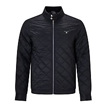 Buy Gant Windcheater Quilted Jacket, Navy Online at johnlewis.com