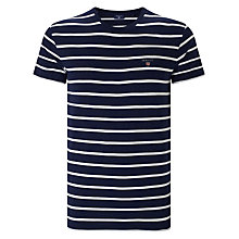 Buy Gant Breton Stripe T-Shirt, Shadow Blue Online at johnlewis.com