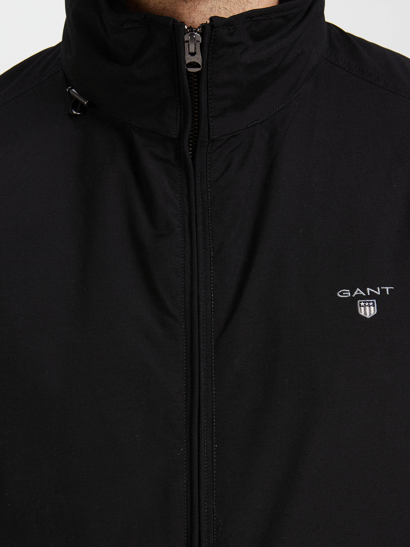 6fee358f0b ... Buy Gant Mid-Length Jacket, Black, S Online at johnlewis.com ...