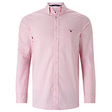 Buy Gant Poplin Gingham Shirt, Bright Pink Online at johnlewis.com