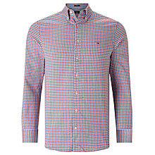 Buy Gant Tech Prep Gingham Check Shirt, Bright Red Online at johnlewis.com