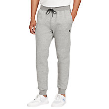 Buy Polo Ralph Lauren Double-Knit Jogging Bottoms, Salt and Pepper Heather Online at johnlewis.com
