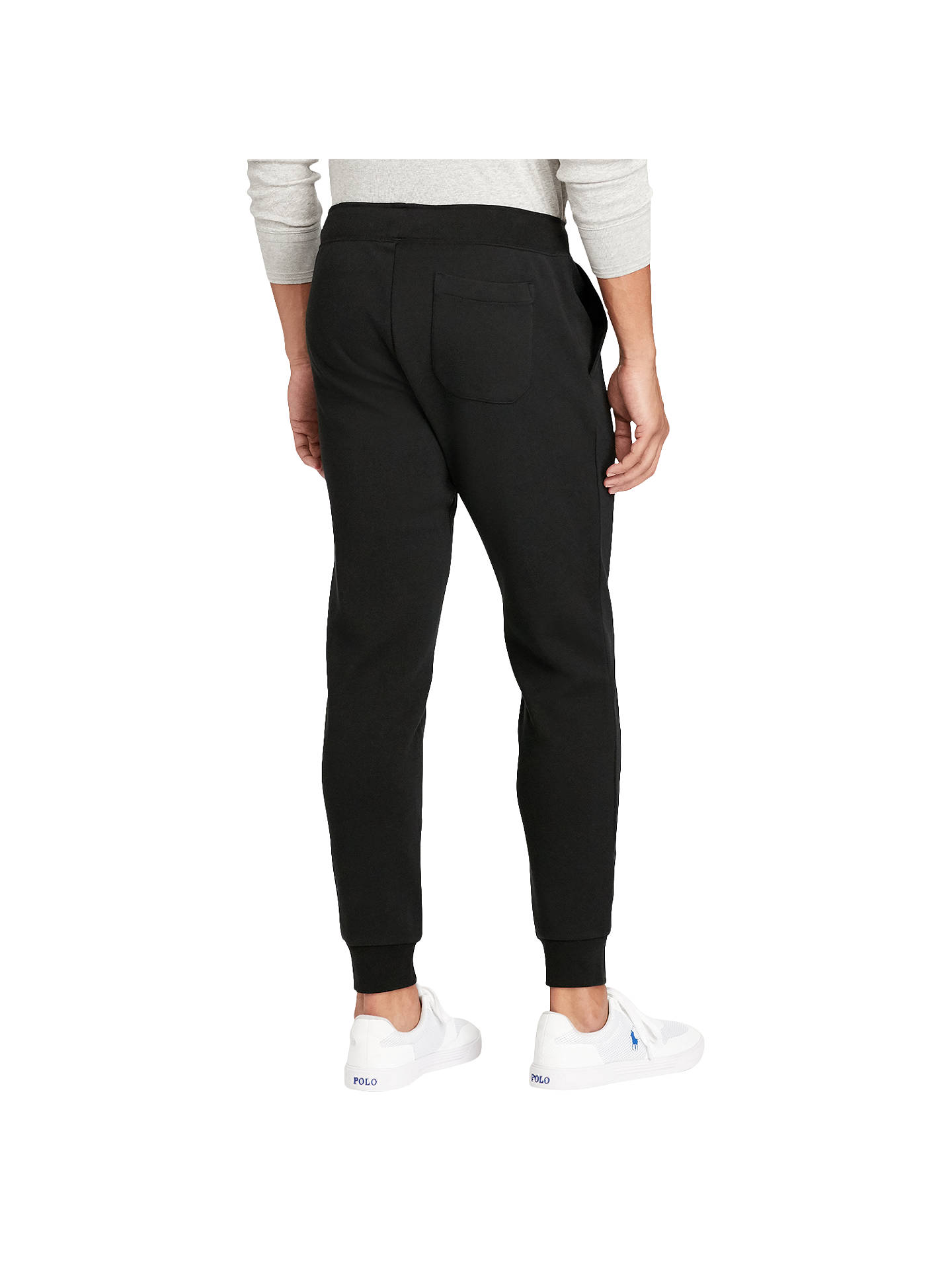 BuyPolo Ralph Lauren Double-Knit Jogging Bottoms, Polo Black, S Online at johnlewis.com