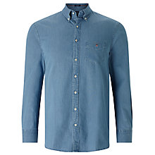 Buy Gant Long Sleeve Shirt, Indigo Online at johnlewis.com