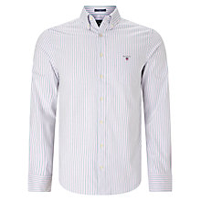 Buy Gant Comfort Oxford Stripe Shirt, Bright Pink Online at johnlewis.com