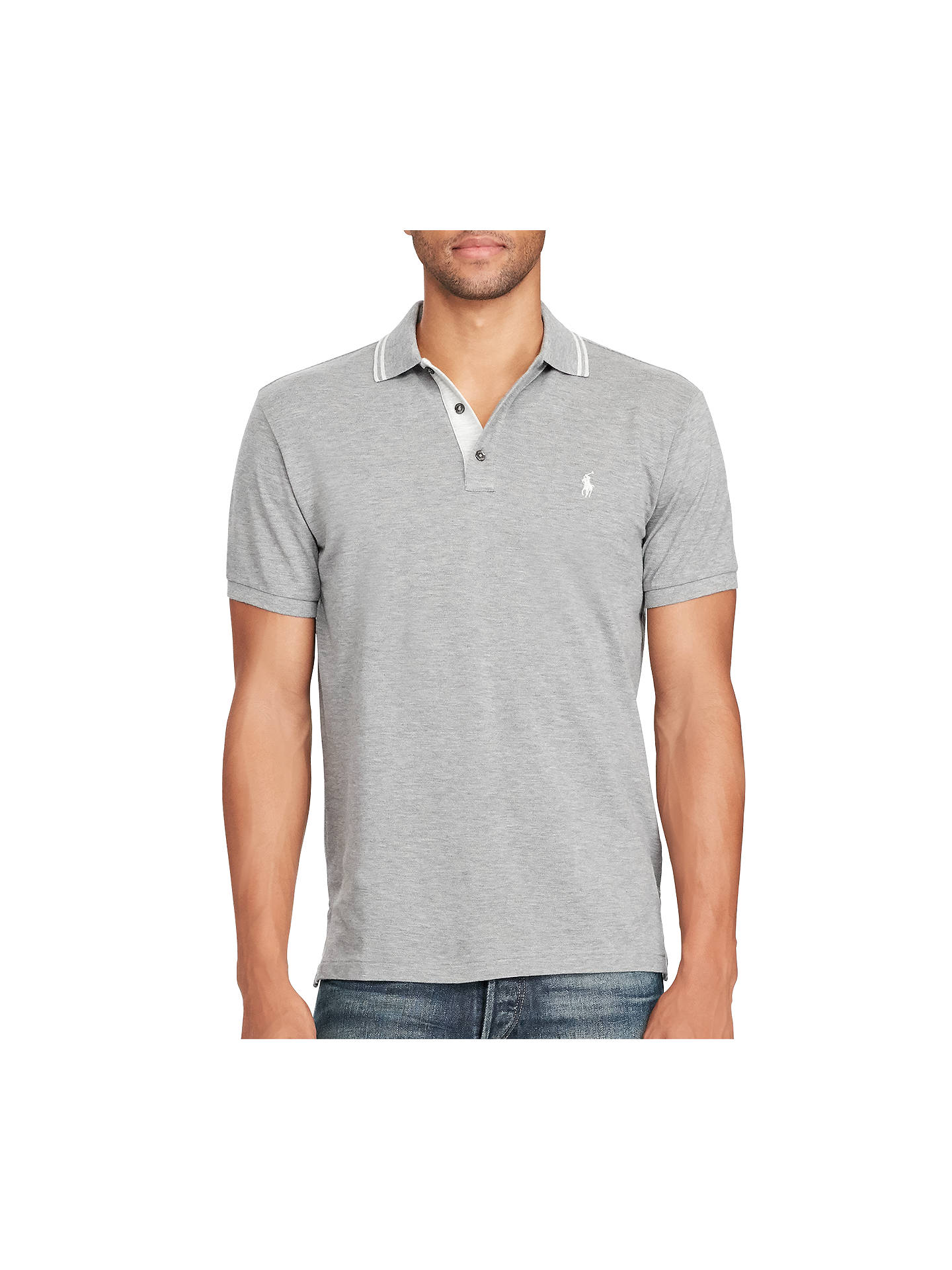 054d124eebe47 Polo Ralph Lauren Custom-Fit Cotton Mesh Polo Shirt at John Lewis ...