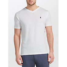 Buy Polo Ralph Lauren Jersey Short Sleeve V-Neck T-Shirt, Pure White Online at johnlewis.com