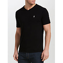 Buy Polo Ralph Lauren Jersey Short Sleeve V-Neck T-Shirt Online at johnlewis.com