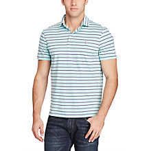 Buy Polo Ralph Lauren Classic Fit Short Sleeve Striped Polo Shirt, Adirondack Lake Online at johnlewis.com