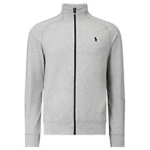 Buy Polo Ralph Lauren Full-Zip Jersey Top, Spring Heather Online at johnlewis.com