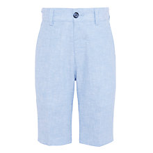 Buy John Lewis Heirloom Collection Boys' Linen Cotton Shorts, Sky Blue Online at johnlewis.com