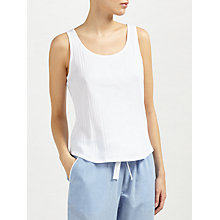Buy John Lewis Loose Fit Rib Vest, White Online at johnlewis.com