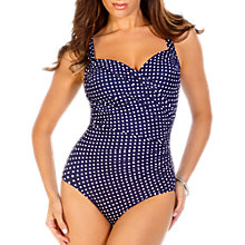 Buy Miraclesuit Dip Dots Sanibel Swimsuit, Navy Online at johnlewis.com