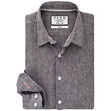 Buy Thomas Pink Vincent Texture Classic Fit Shirt, Black/Pink Online at johnlewis.com