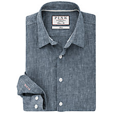Buy Thomas Pink Vincent Texture Classic Fit Shirt, Black/Blue Online at johnlewis.com