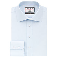 Buy Thomas Pink Strummer Texture Slim Fit Shirt, Pale Blue/White Online at johnlewis.com