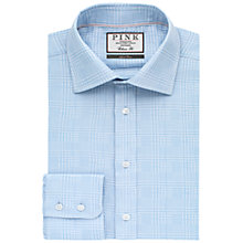 Buy Thomas Pink Bourne Check Classic Fit XL Sleeve Shirt, Pale Blue/White Online at johnlewis.com