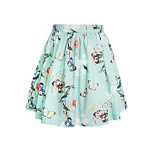 Buy John Lewis Girls' Floral Butterfly Print Skirt, Aqua Online at johnlewis.com