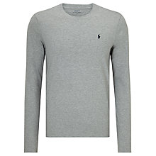 Buy Polo Ralph Lauren Long Sleeve T-Shirt, Grey Online at johnlewis.com