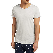 Buy Polo Ralph Lauren Wide Crew Neck Lounge T-Shirt, Grey Online at johnlewis.com