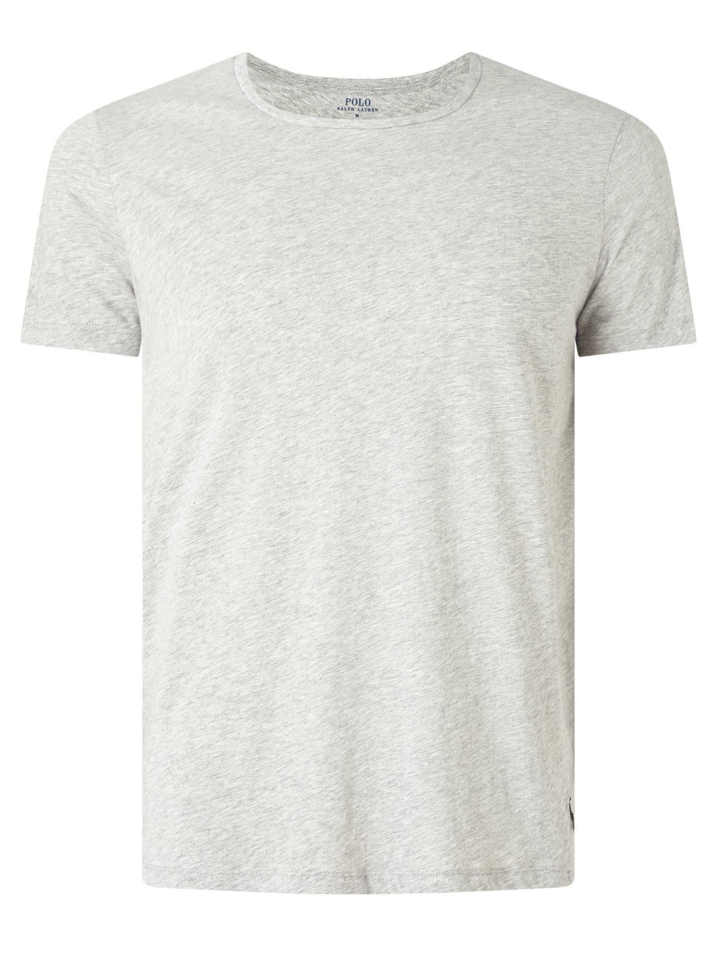 33e56a7f2e ... Buy Polo Ralph Lauren Wide Crew Neck Lounge T-Shirt, Grey, S Online