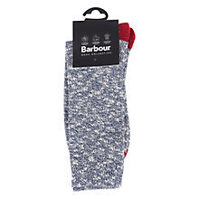 Buy Barbour Mariner Socks, Navy/Red Online at johnlewis.com