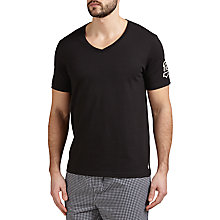 Buy Polo Ralph Lauren V-Neck Lounge T-Shirt, Black Online at johnlewis.com