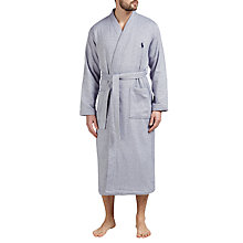 Buy Polo Ralph Lauren Herringbone Cotton Robe, Navy Online at johnlewis.com