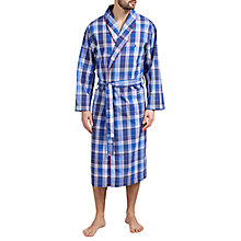 Buy Polo Ralph Lauren Plaid Shawl Collar Robe, Blue Online at johnlewis.com