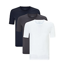 Buy BOSS Lounge T-Shirt, Pack of 3, White/Black/Navy Online at johnlewis.com