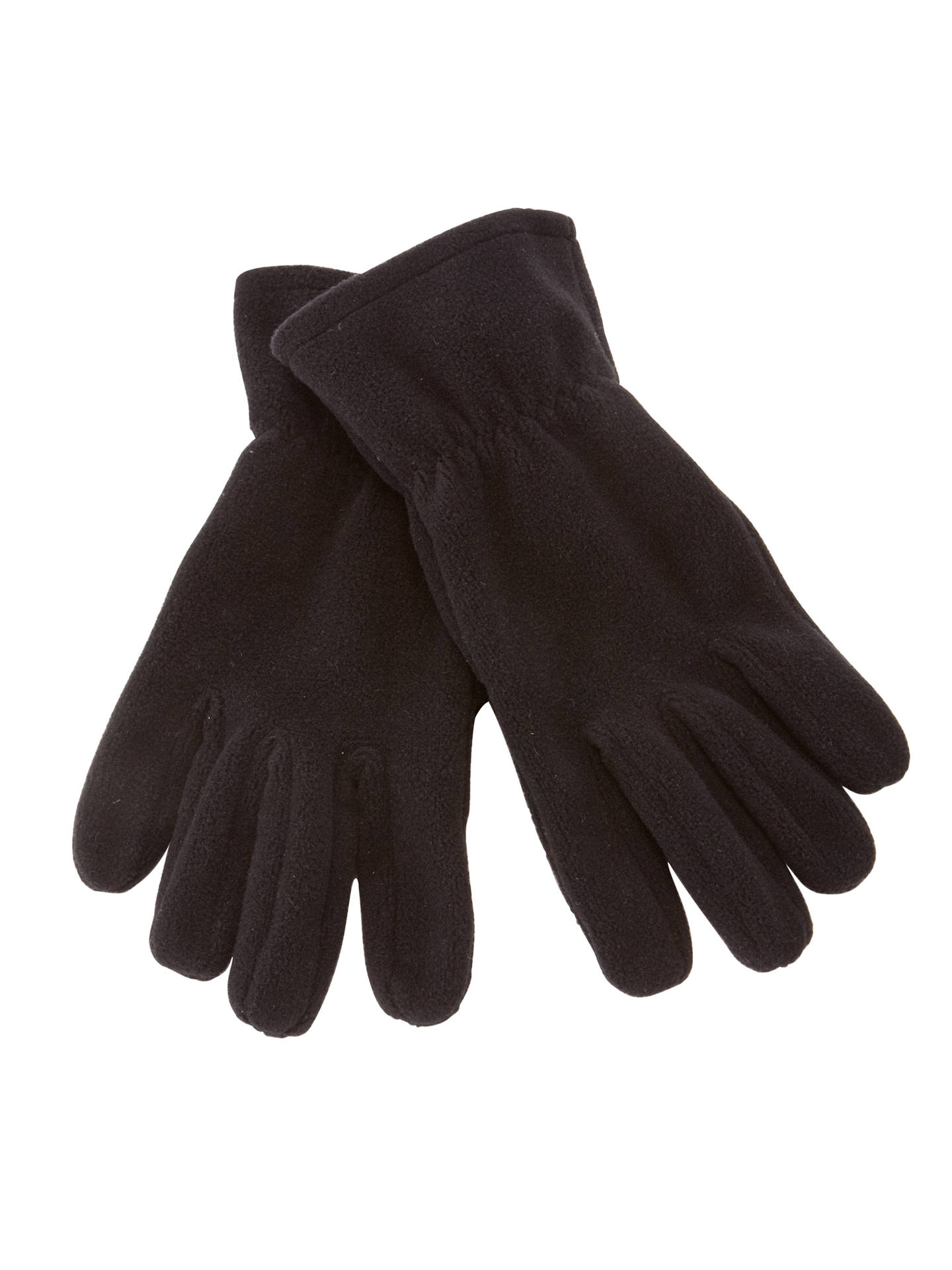 BuySchool Fleece Gloves, Black, 5-7 years Online at johnlewis.com