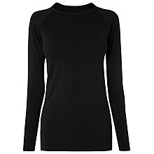 Buy L.K. Bennett Flo Jersey Top, Bla-black Online at johnlewis.com