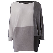 Buy Phase Eight Becca Colour Block Jumper, Black/Grey Online at johnlewis.com